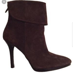 Ralph Lauren Brown Suede Leola Cuffed Pointed Toe